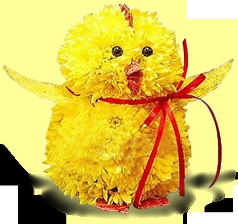 Как сделать цыпленка из живых цветов своими руками 45